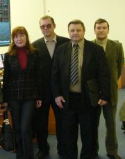 From left to right: Filjakina Elena Feliksovna, Volodin Vladimir Vasiljevich, Voblyj Valery Antonievich, Kuprik Igor Mihajlovich. Experts from Tyumen RDU